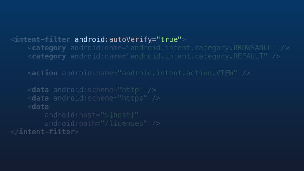 "<intent-filter android:autoVerify=""true""> <cate..."