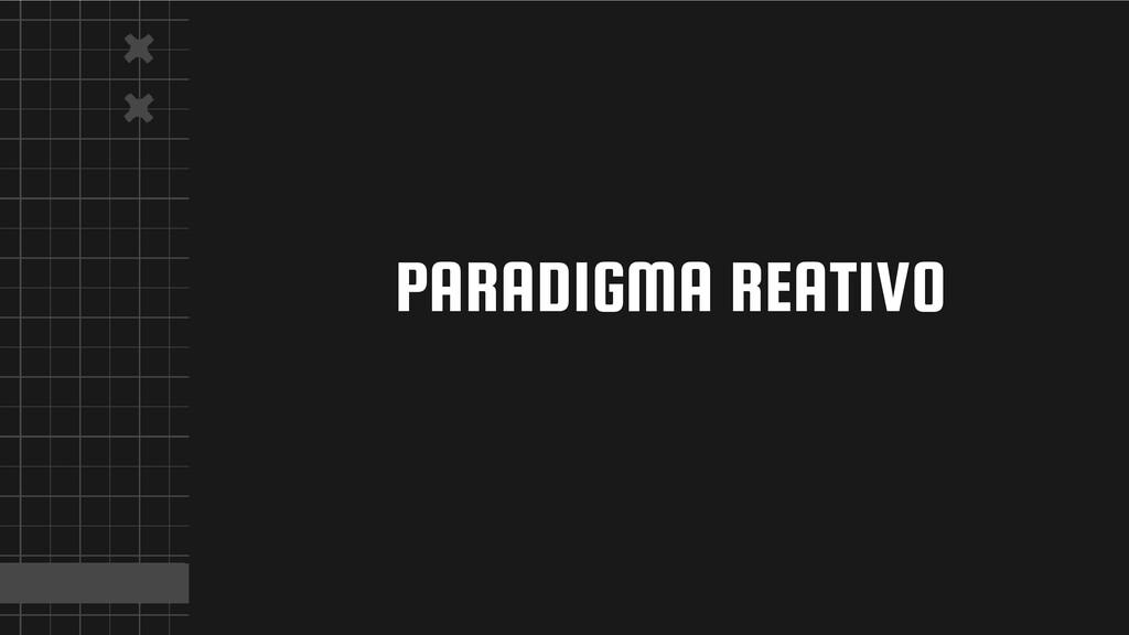 PARADIGMA REATIVO