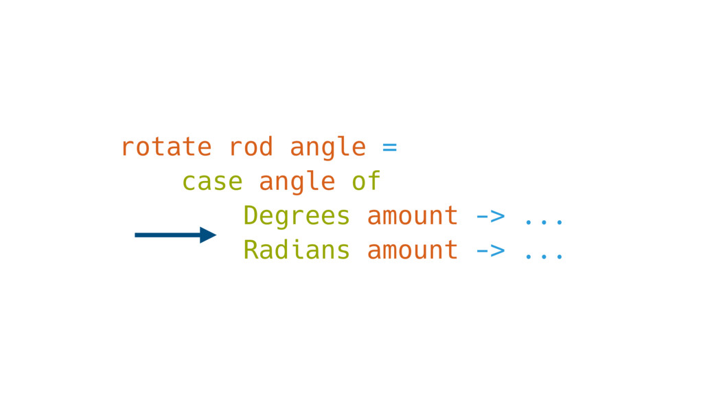 rotate rod angle = case angle of Degrees amount...