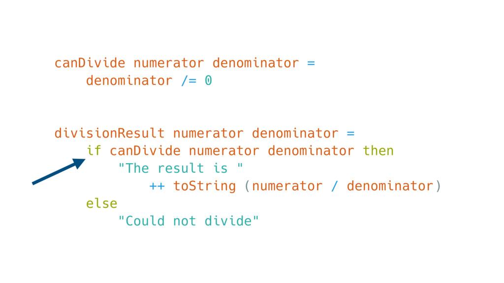 canDivide numerator denominator = denominator /...
