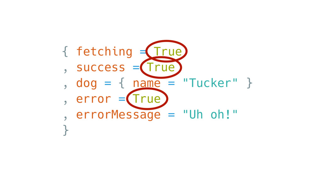 { fetching = True , success = True , dog = { na...