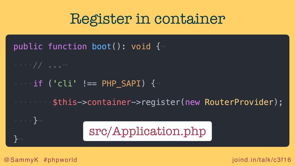 joind.in/talk/c3f16 @SammyK #phpworld Register ...