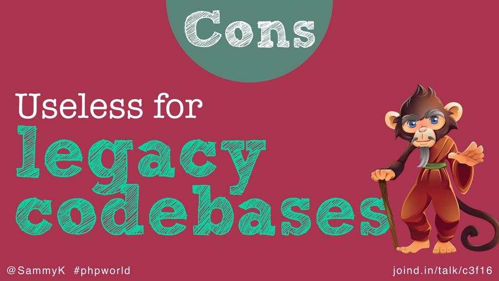 joind.in/talk/c3f16 @SammyK #phpworld Cons lega...