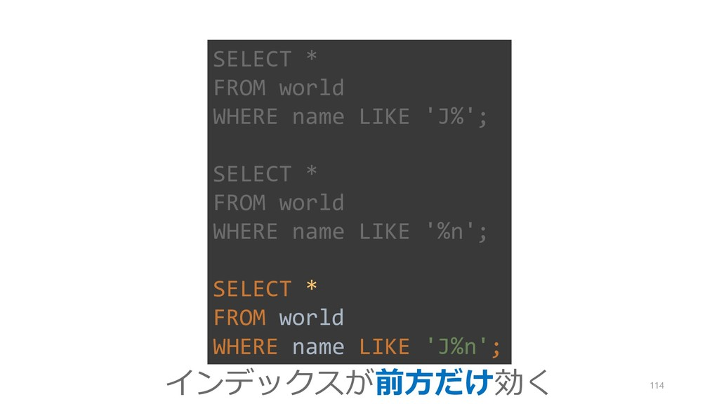 SELECT * FROM world WHERE name LIKE 'J%'; SELEC...