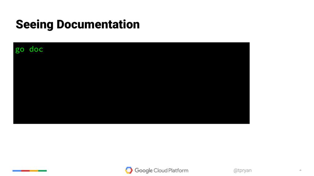 ‹#› @tpryan go doc Seeing Documentation