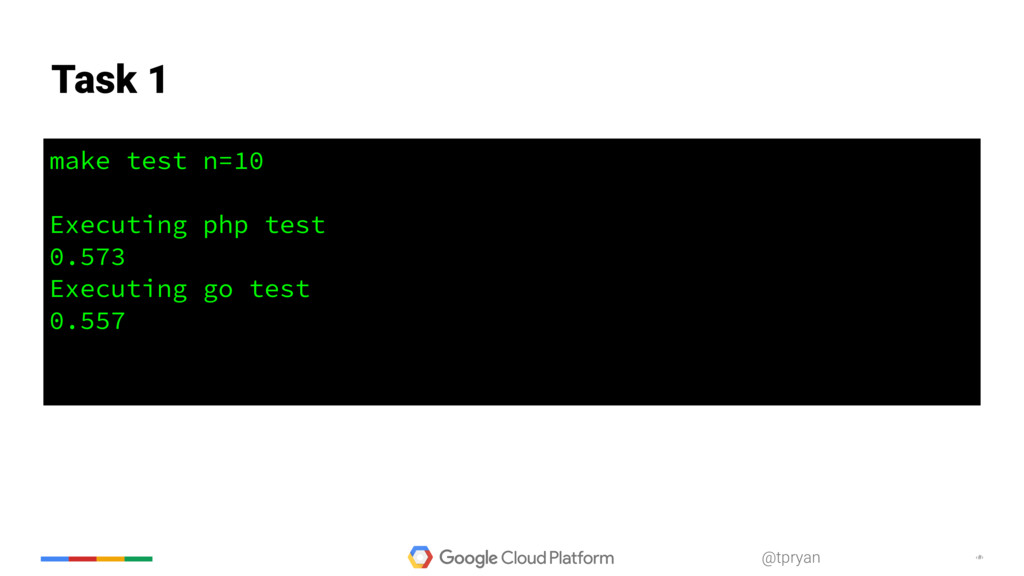 ‹#› @tpryan make test n=10 Executing php test 0...