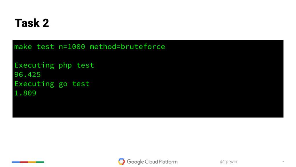 ‹#› @tpryan make test n=1000 method=bruteforce ...