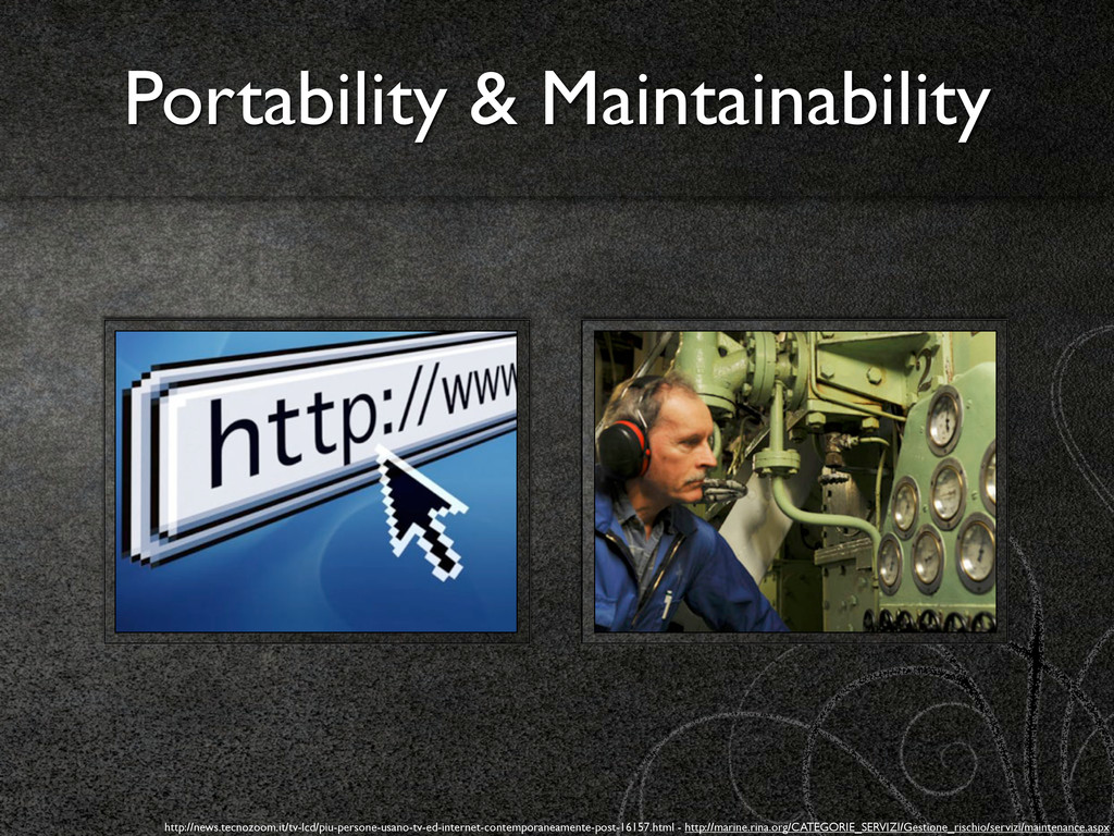 Portability & Maintainability http://news.tecno...
