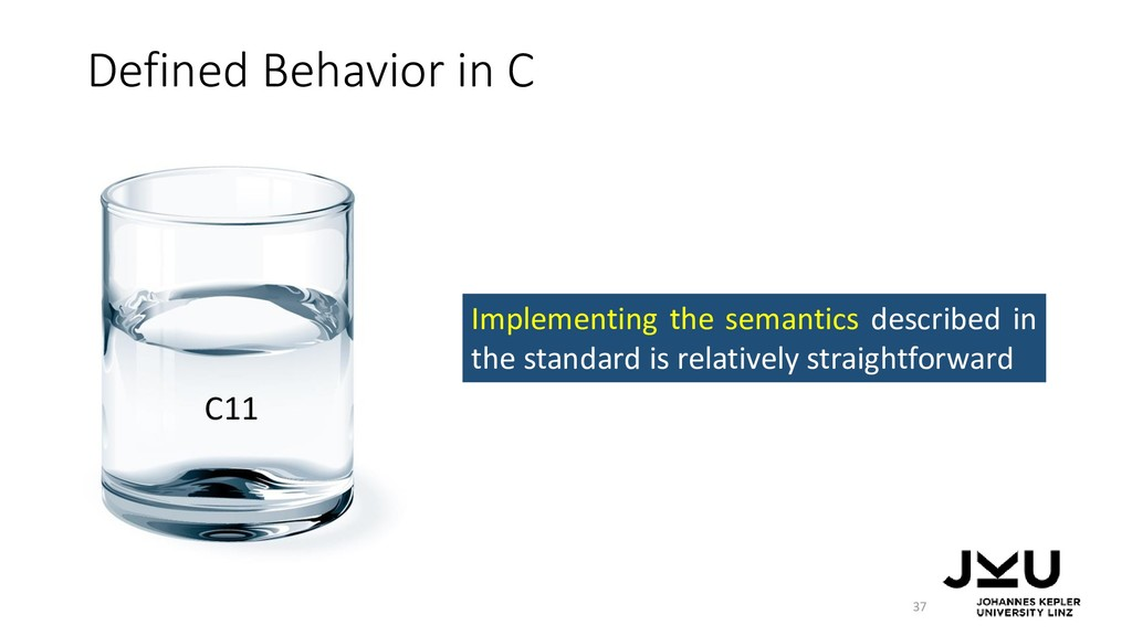 Defined Behavior in C 37 Implementing the seman...