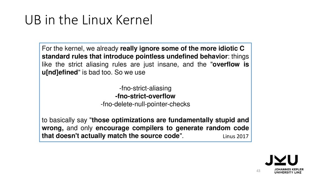 For the kernel, we already really ignore some o...