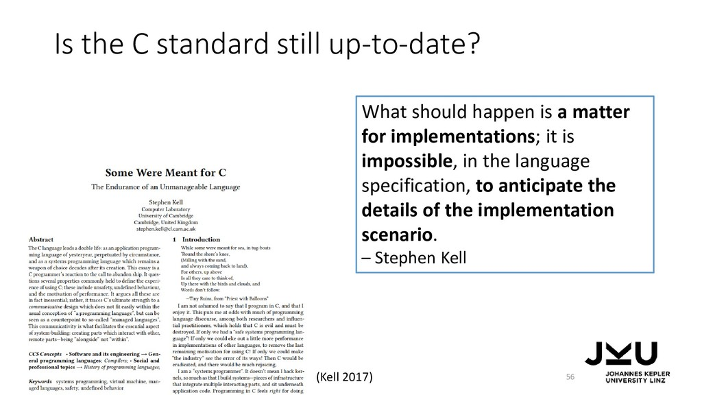Is the C standard still up-to-date? 56 What sho...