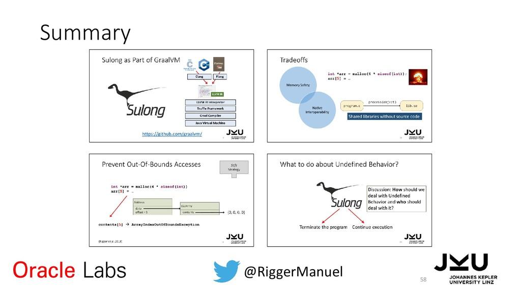 Summary 58 @RiggerManuel