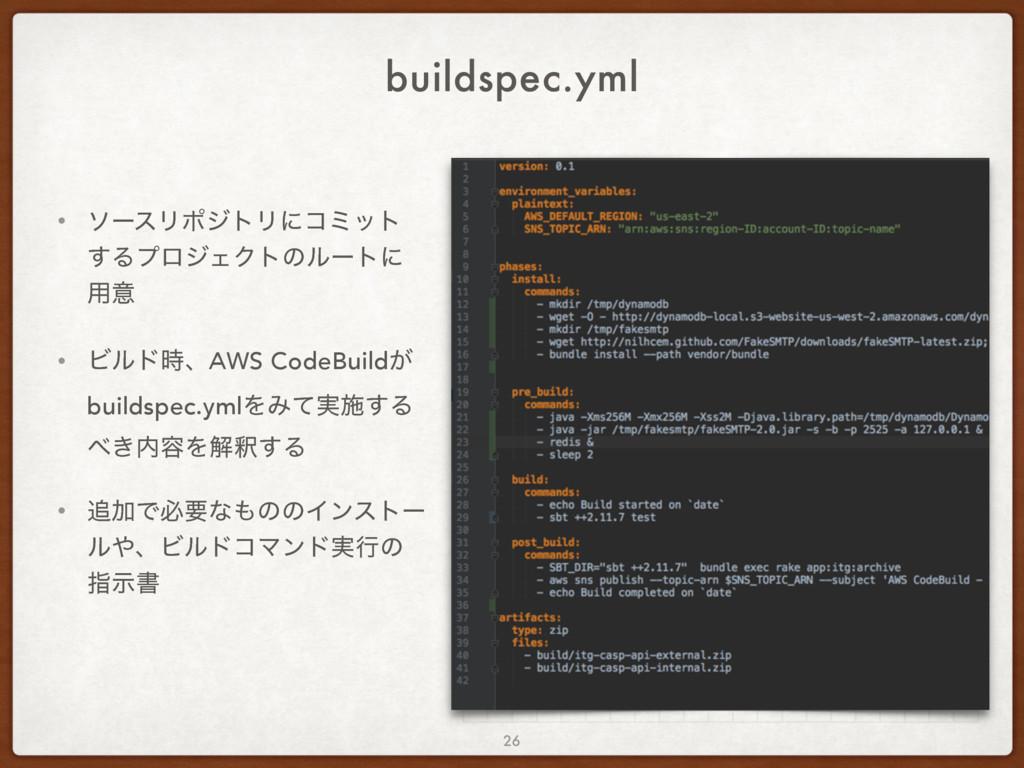 buildspec.yml • ιʔεϦϙδτϦʹίϛοτ ͢ΔϓϩδΣΫτͷϧʔτʹ ༻ҙ ...