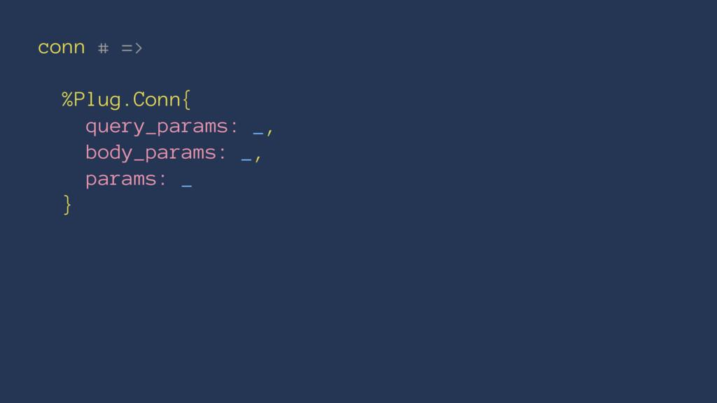 conn # => %Plug.Conn{ query_params: _, body_par...