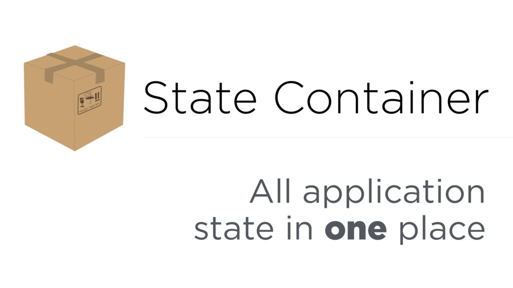 All application state in one place State Contai...