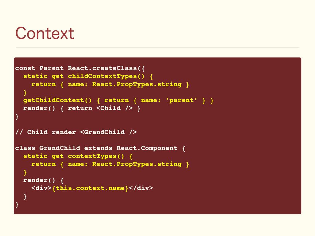 $POUFYU const Parent React.createClass({ static...