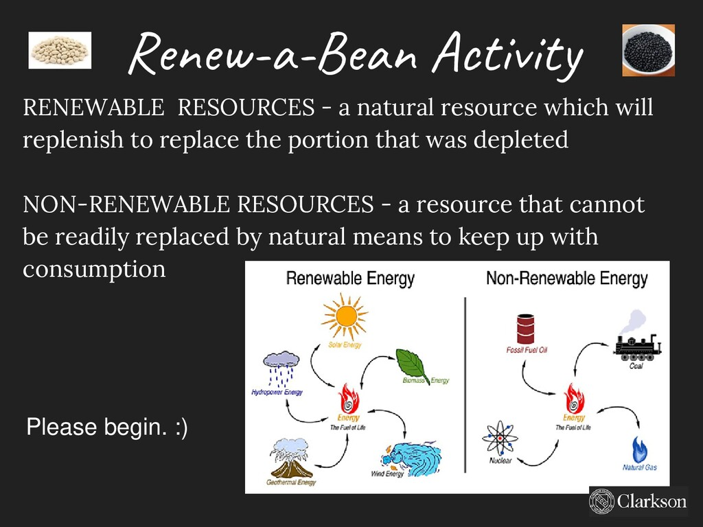 Renew-a-Bean Activity RENEWABLE RESOURCES - a n...