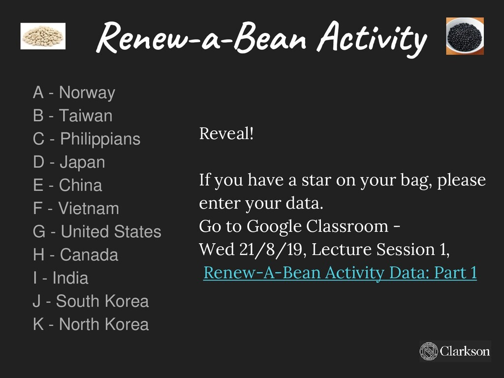Reveal! If you have a star on your bag, please ...
