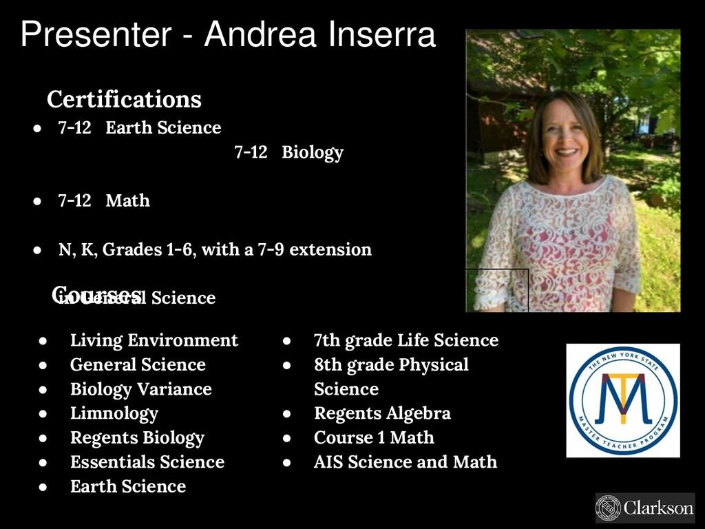 Certifications ● 7-12 Earth Science 7-12 Biolog...