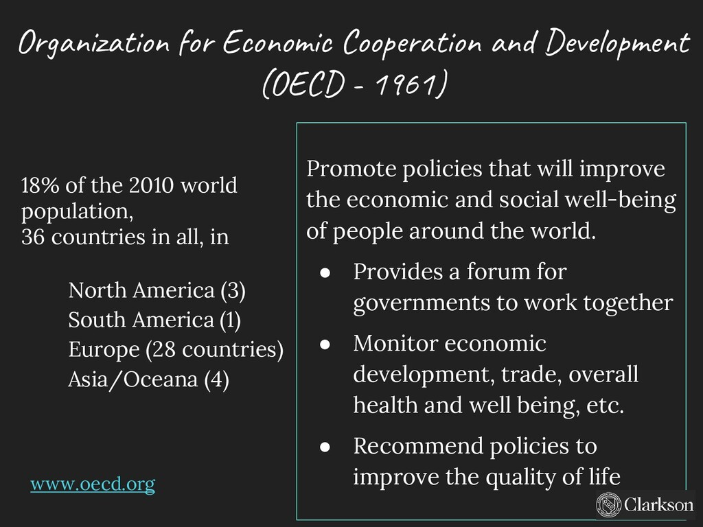 Organization for Economic Cooperation and Devel...