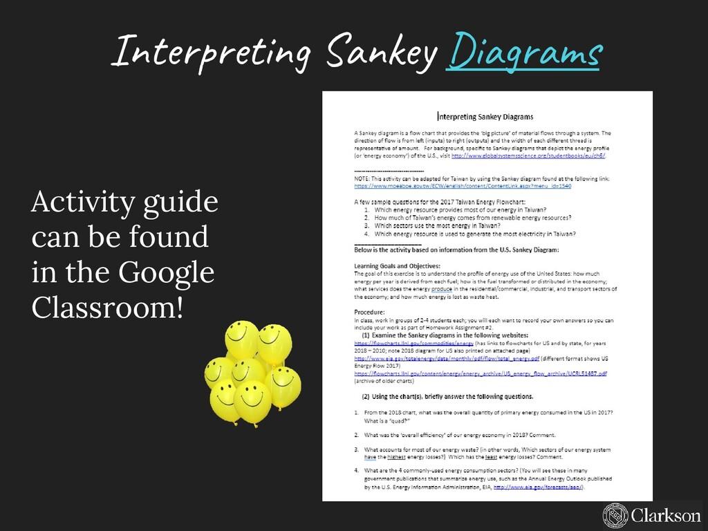 Interpreting Sankey Diagrams Activity guide can...