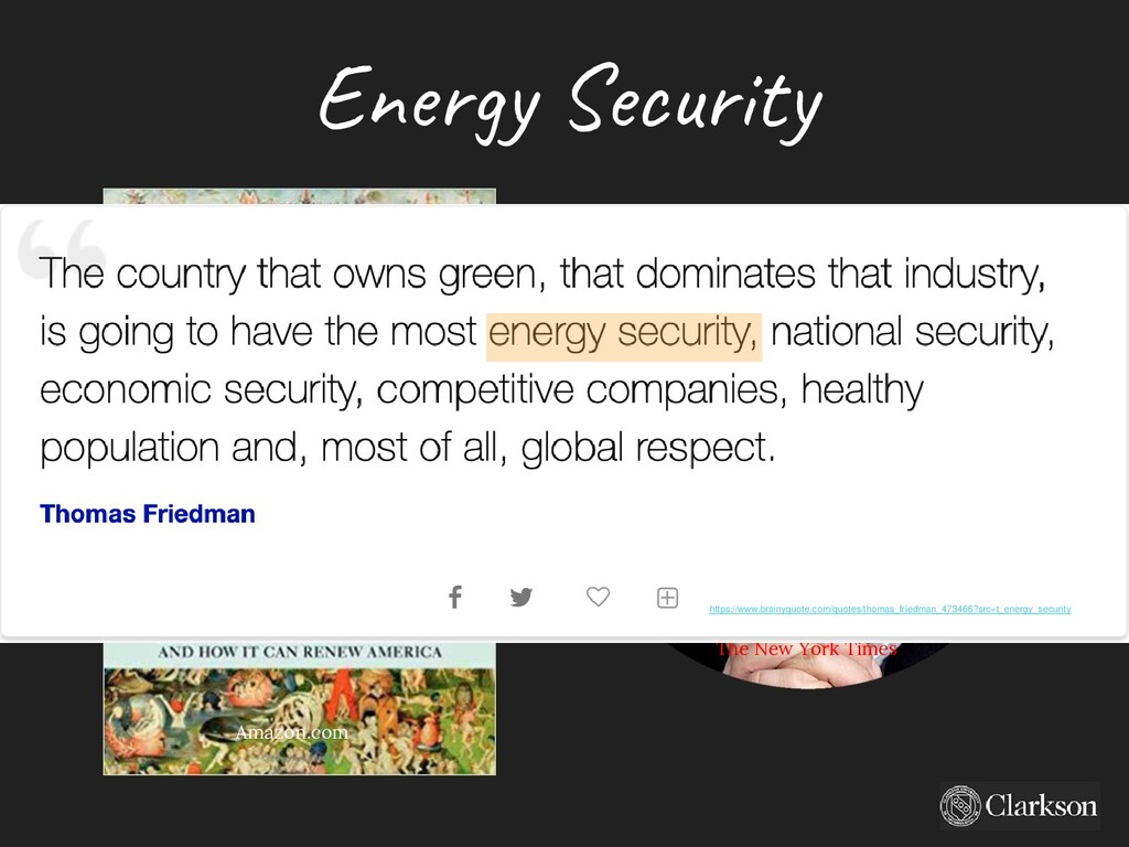 Energy Security The New York Times Amazon.com h...
