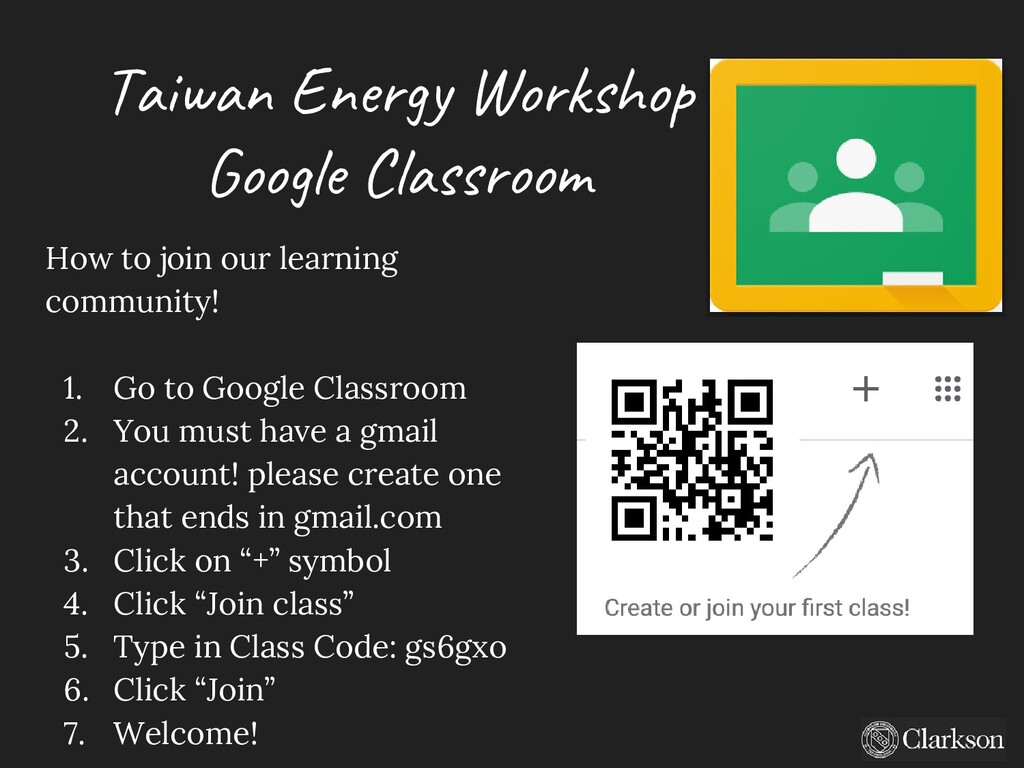 Taiwan Energy Workshop Google Classroom How to ...
