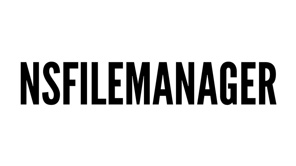 NSFILEMANAGER