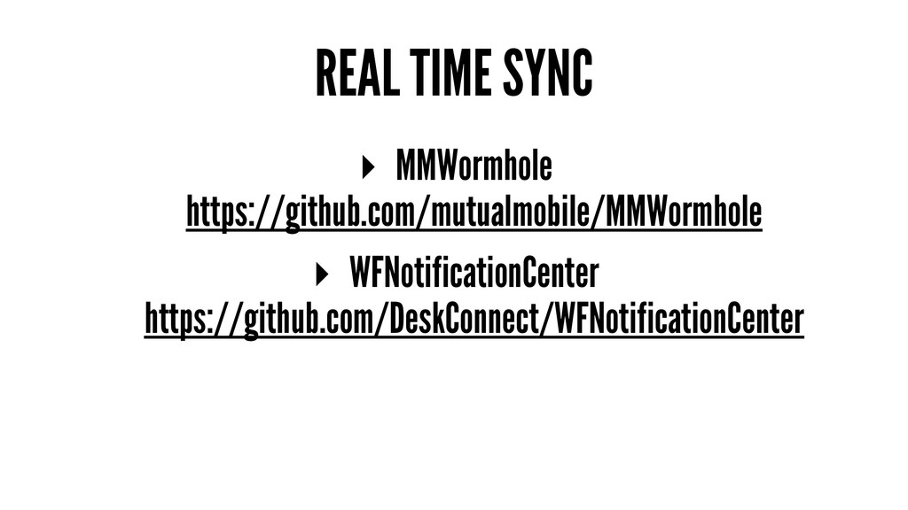 REAL TIME SYNC ▸ MMWormhole https://github.com/...