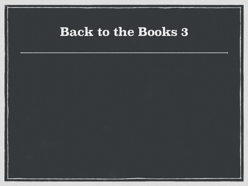 Back to the Books 3
