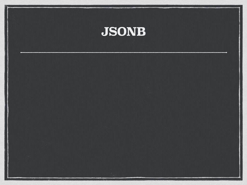 JSONB
