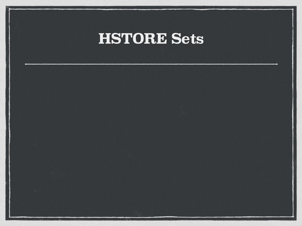 HSTORE Sets