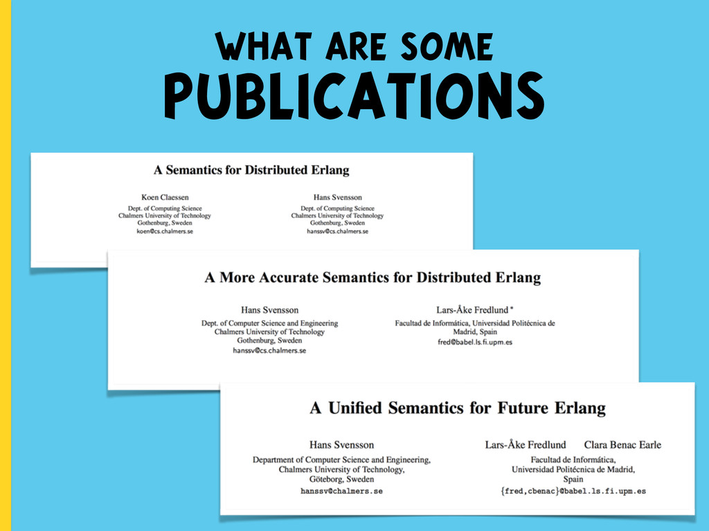 what are some PUBLICATIONS