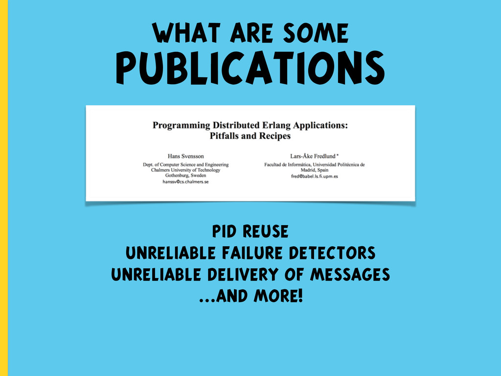 what are some PUBLICATIONS pid reuse unreliable...