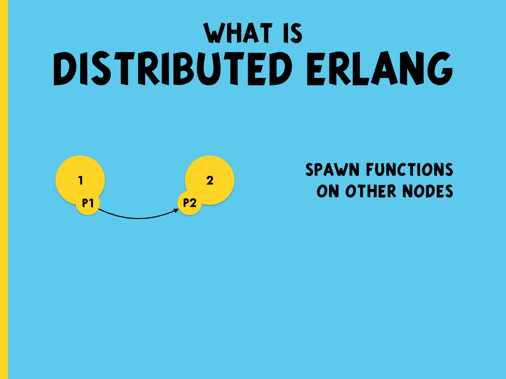 what is DISTRIBUTED ERLANG 1 spawn functions on...