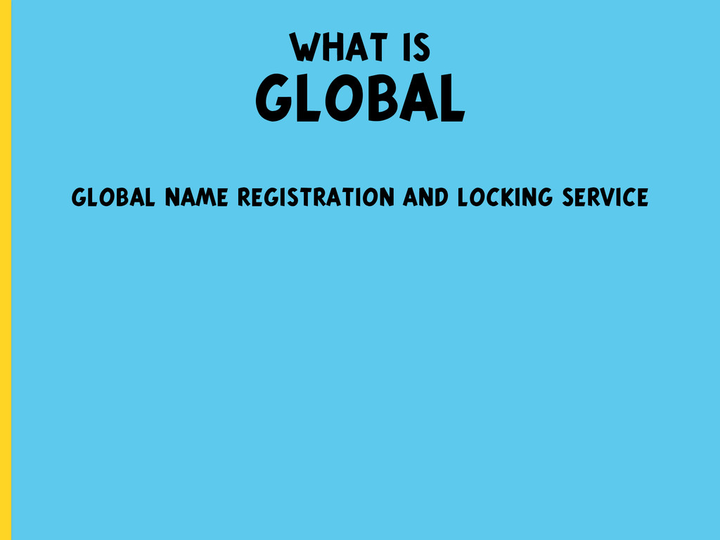 what is GLOBAL global name registration and loc...