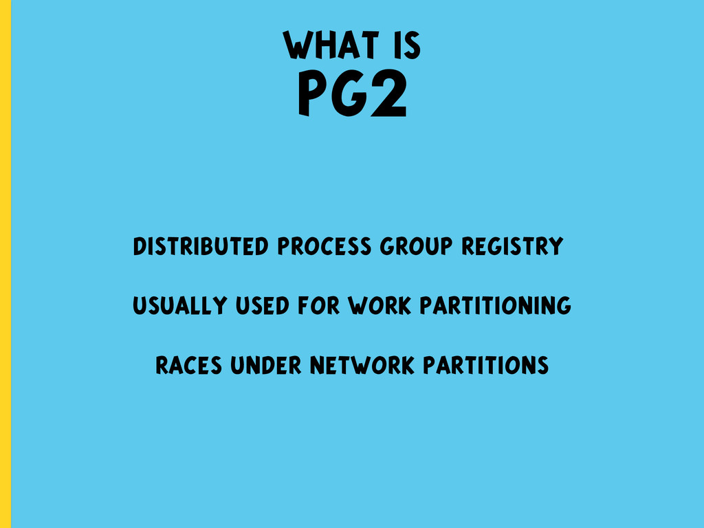 what is PG2 distributed process group registry ...