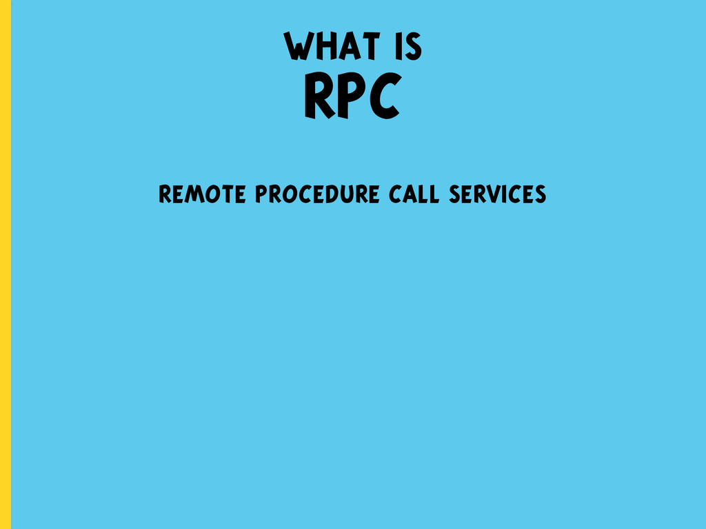 remote procedure call services what is RPC