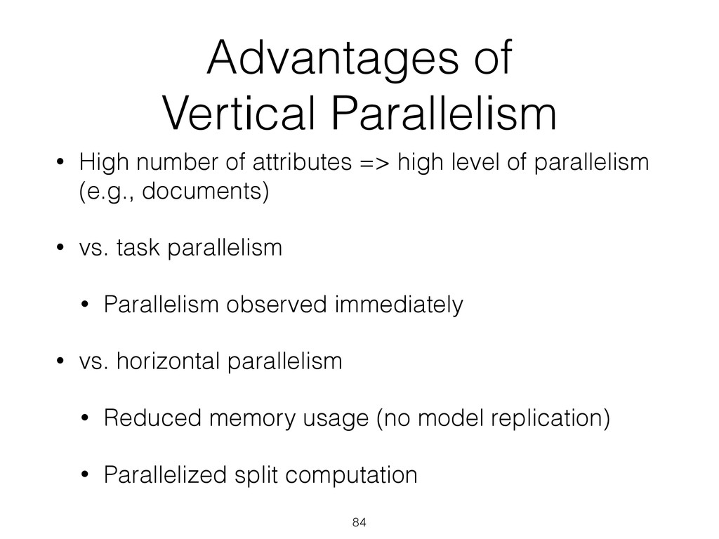 Advantages of 