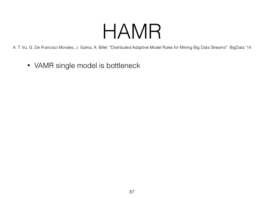 HAMR • VAMR single model is bottleneck 87 A. T....