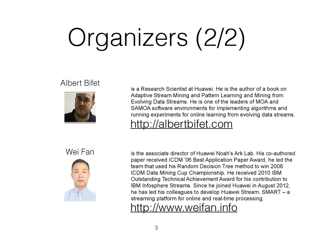 Organizers (2/2) 