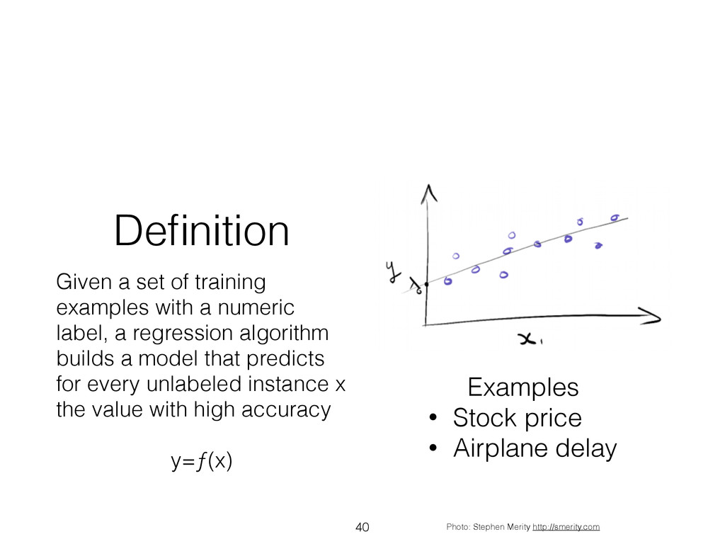 Definition Given a set of training examples with...