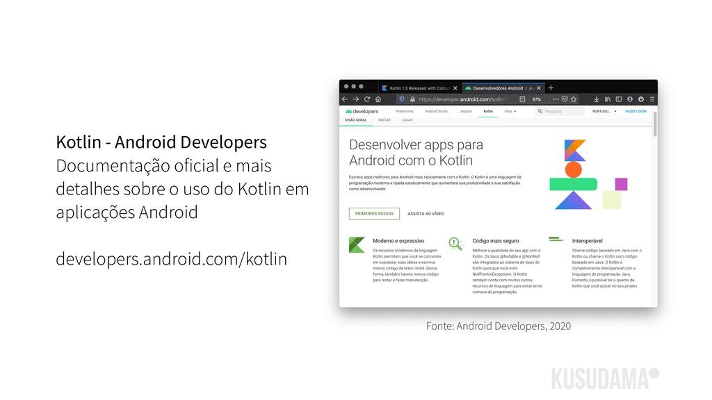 Kotlin - Android Developers Documentação oficia...