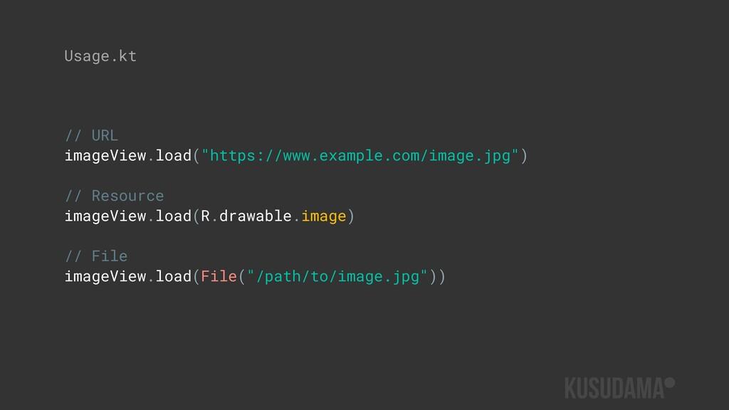"// URL imageView.load(""https://www.example.com/..."