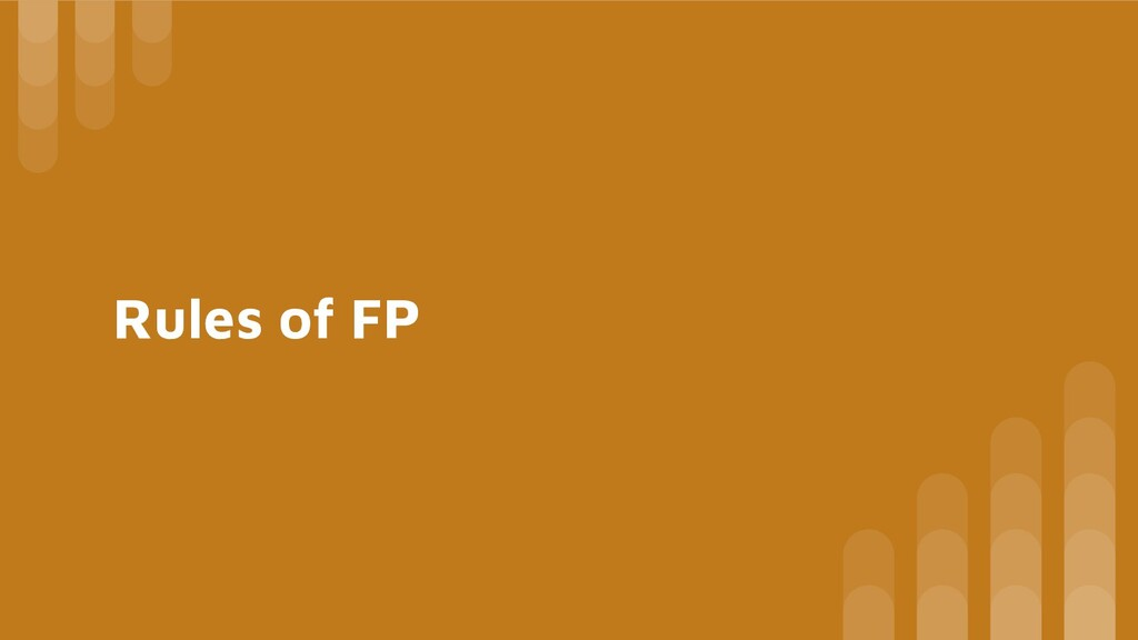 Rules of FP