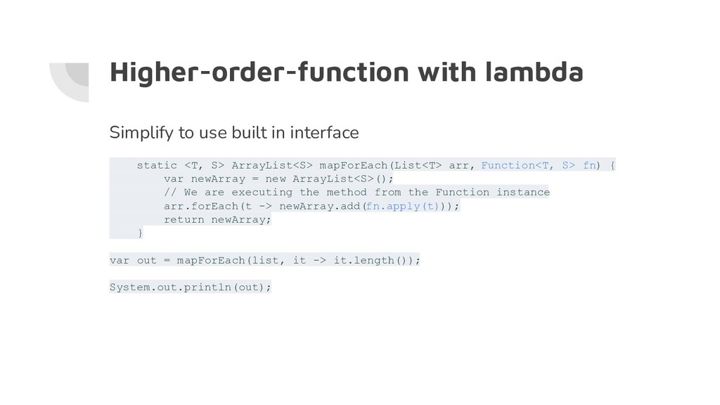 Higher-order-function with lambda Simplify to u...