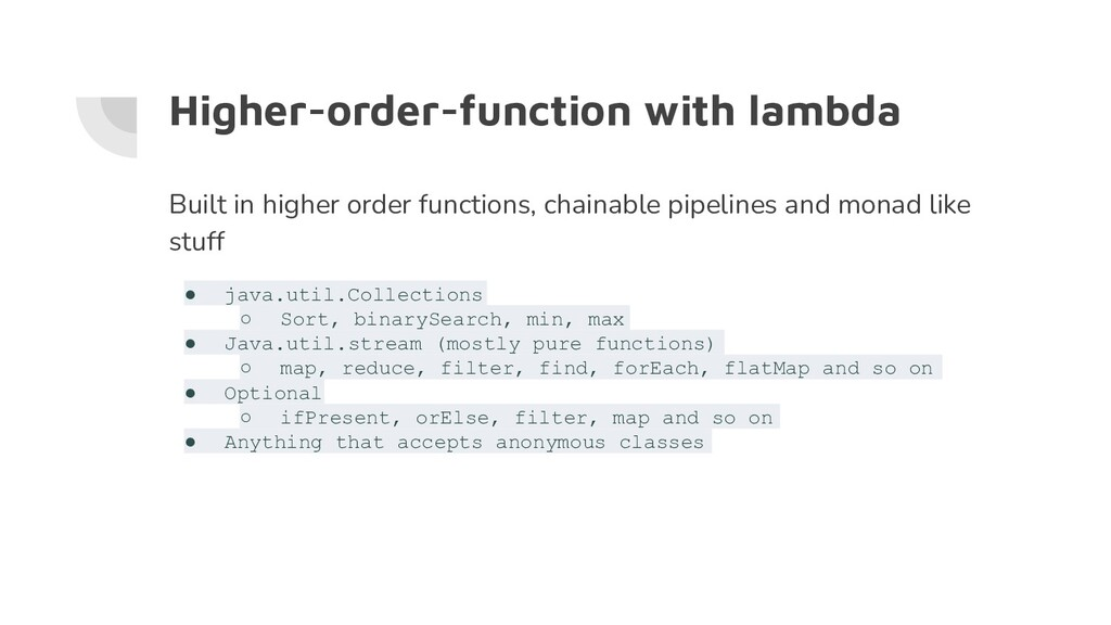Higher-order-function with lambda Built in high...