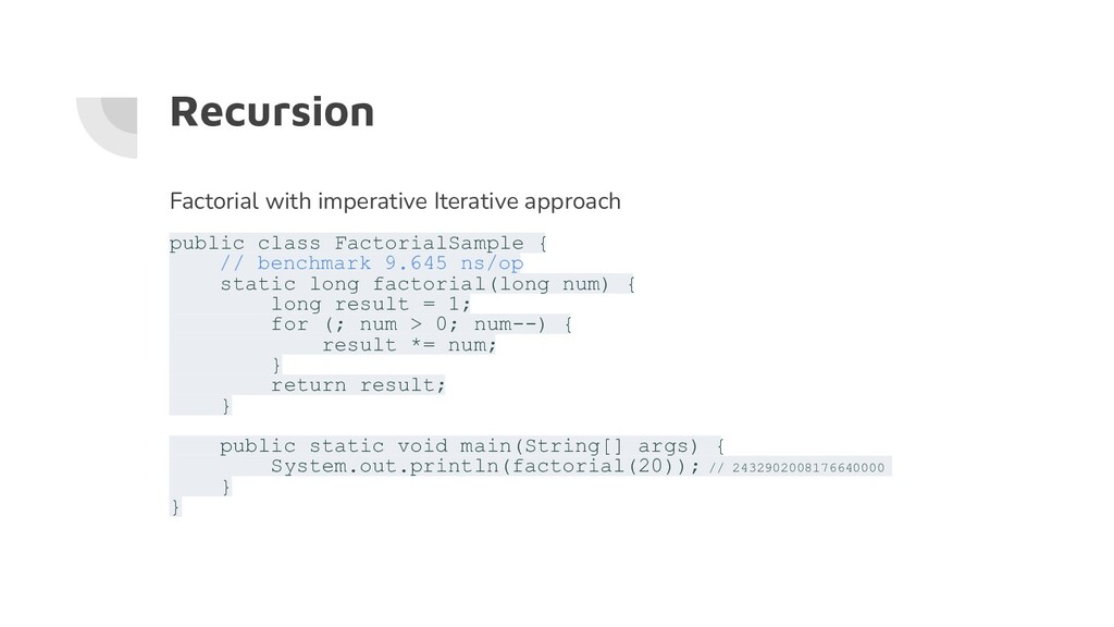 Recursion Factorial with imperative Iterative a...