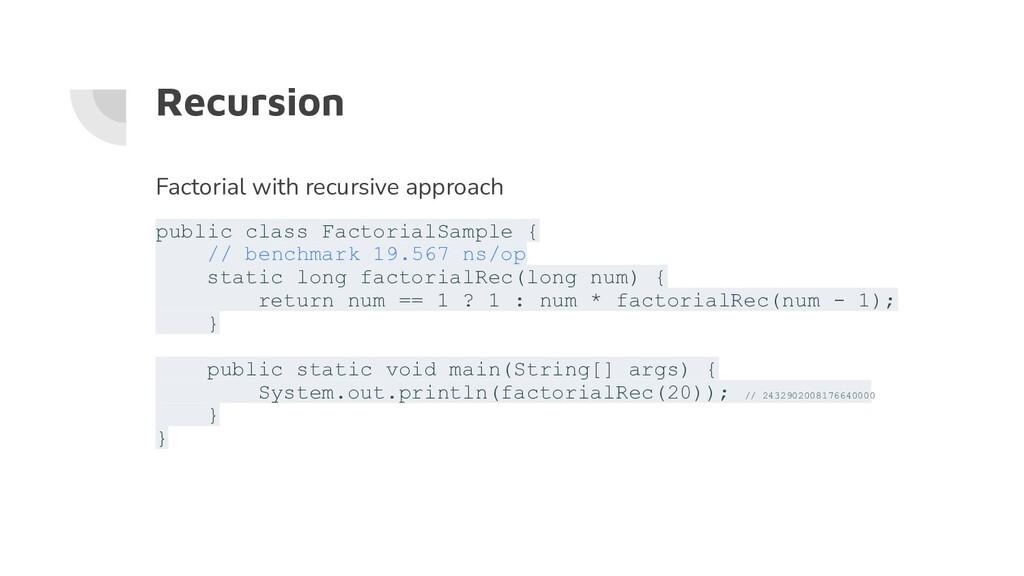 Recursion Factorial with recursive approach pub...