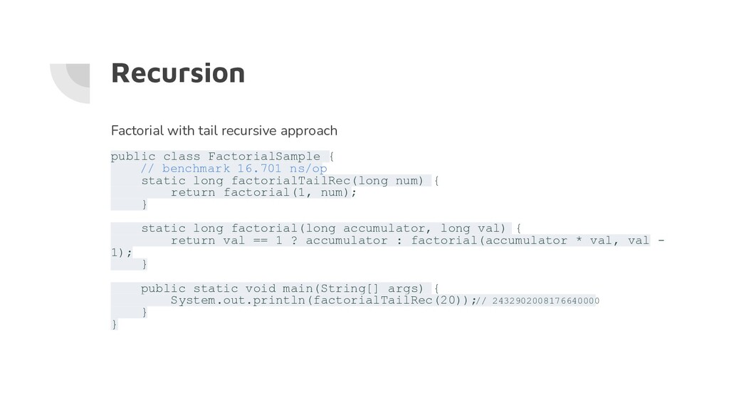 Recursion Factorial with tail recursive approac...